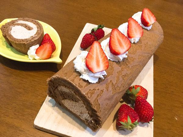 ほろ苦い大人の味♪ポリフェノール豊富なコーヒーロールケーキ
