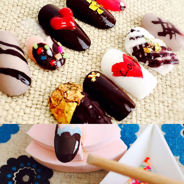 チョコネイル デザイン6選&セルフで簡単【やり方・作り方】