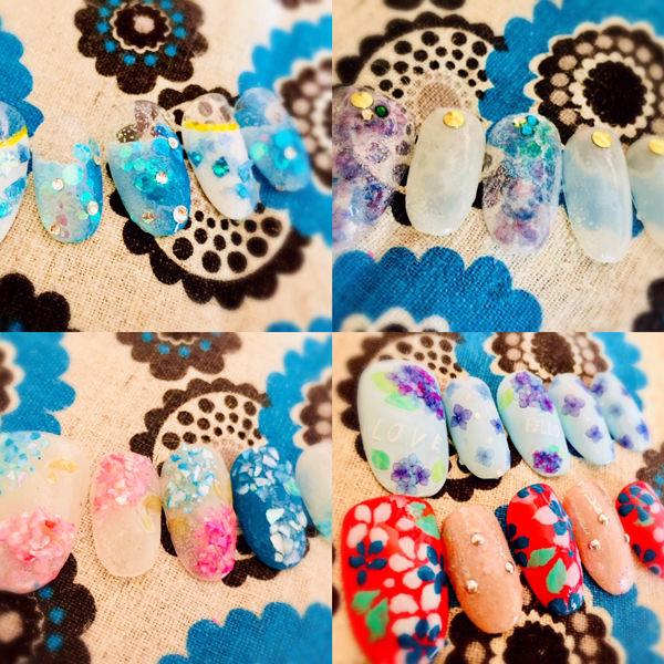 紫陽花ネイルを作る簡単なやり方・デザイン集5選