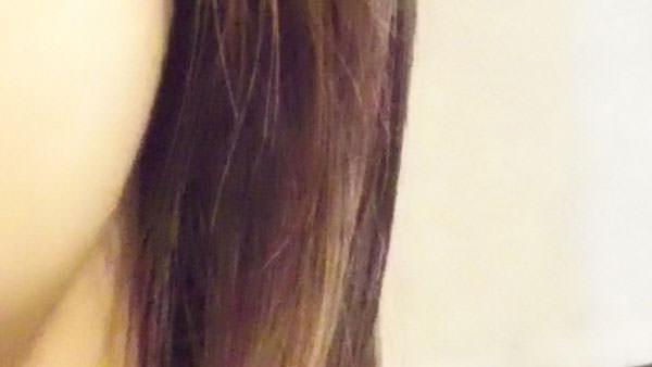 アロエベラジェルとつけた後の髪の毛