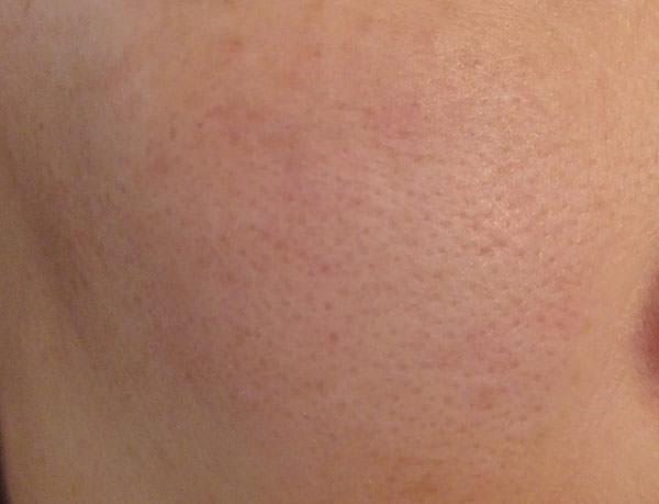 すっぴんエッセンシャルズ クレンジングリキッド使用後の肌