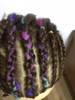 コーンロウ「毛糸スタイル」