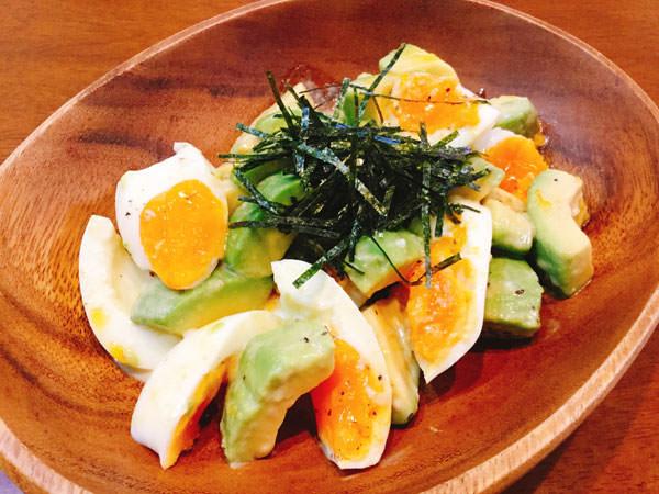 【無限レシピ1】刻みのりたっぷり♪アボカドと茹で卵のマヨポンサラダ