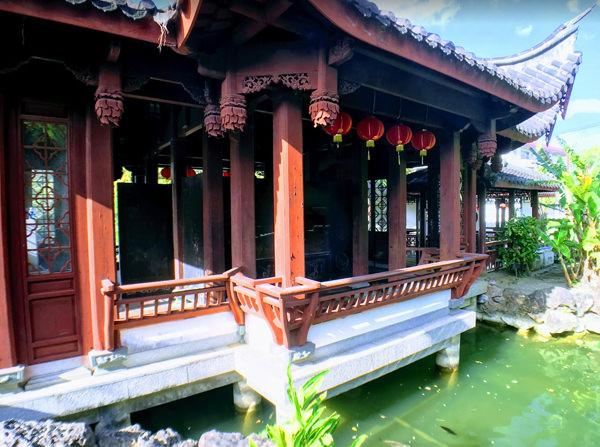 福州園 池を眺める建物 三十六鴛鴦館