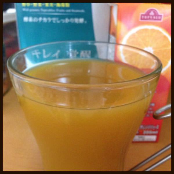 ベジライフ酵素液オレンジジュース割り