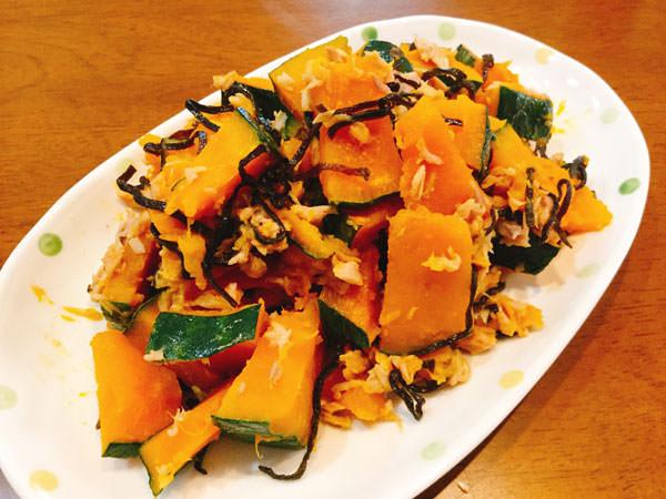 【無限レシピ3】10分で食卓へ!レンジでほっくり塩昆布の無限かぼちゃ