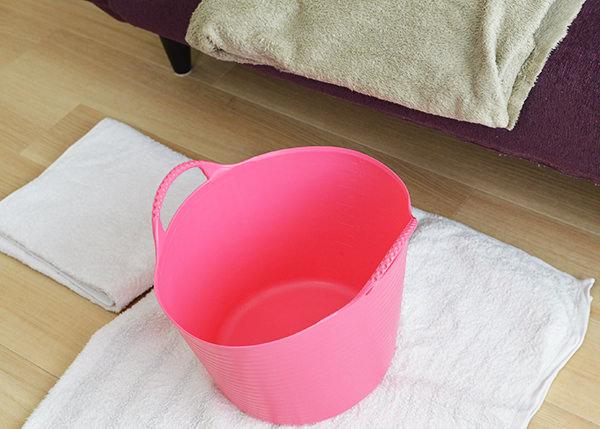 足湯を実践