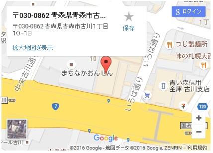 シースリー青森店の地図
