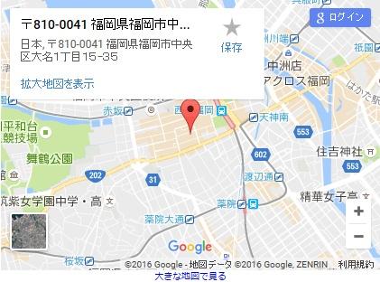 シースリー福岡天神店の地図
