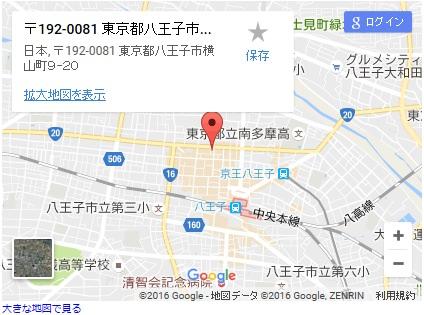 シースリー八王子店の地図