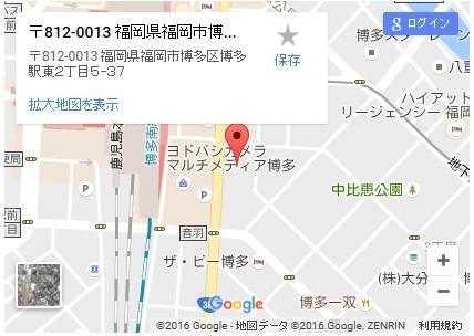 シースリー博多駅前店の地図