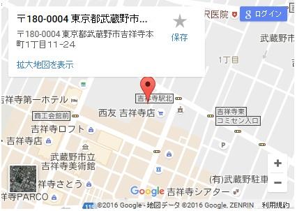 シースリー吉祥寺店の地図