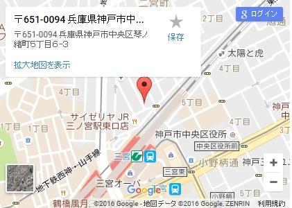 シースリー神戸三宮店の地図
