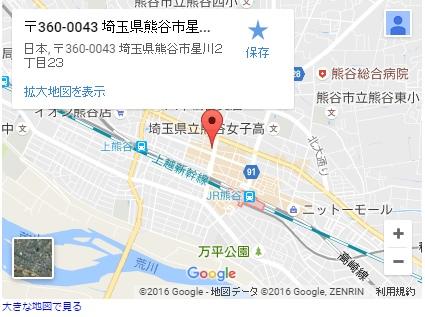 シースリー熊谷店の地図