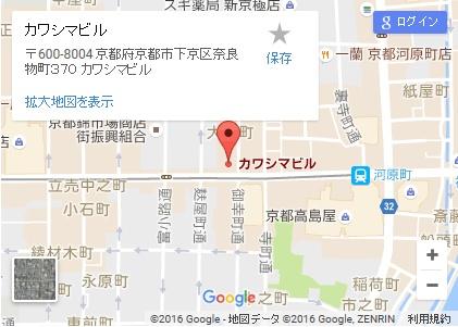 シースリー京都河原町店の地図
