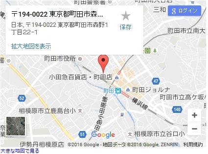 シースリー町田店の地図