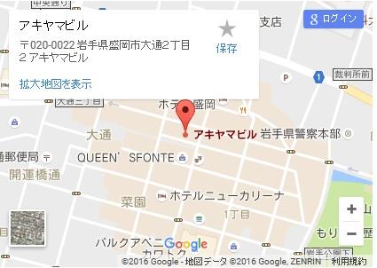 シースリー盛岡店の地図