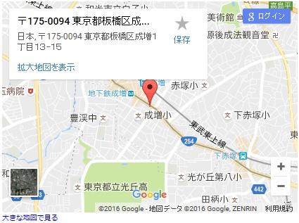シースリー成増店の地図