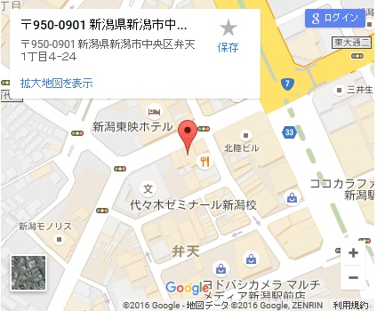 シースリー新潟店の地図
