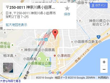 シースリー小田原店の地図