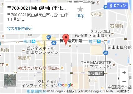 シースリー岡山店の地図