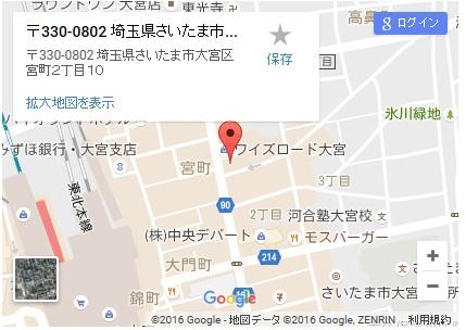 シースリー大宮東口店の地図