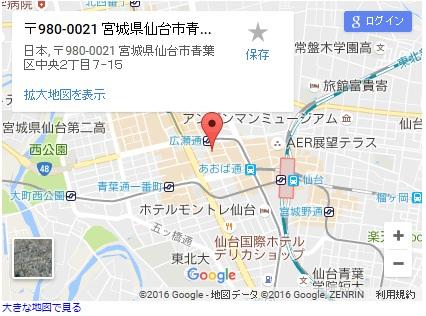 シースリー仙台一番町店の地図