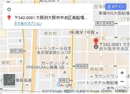 シースリー心斎橋店の地図