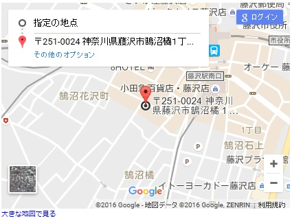 シースリー湘南藤沢店の地図