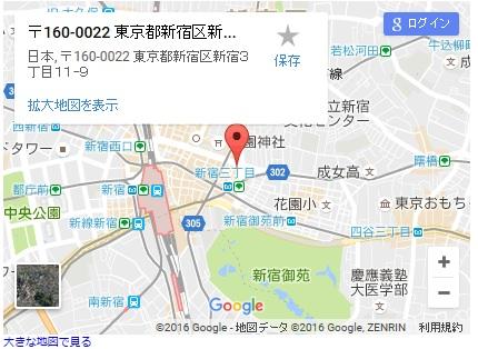 シースリー新宿東口店の地図
