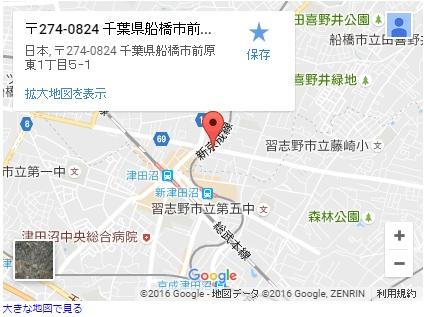 シースリー津田沼店の地図