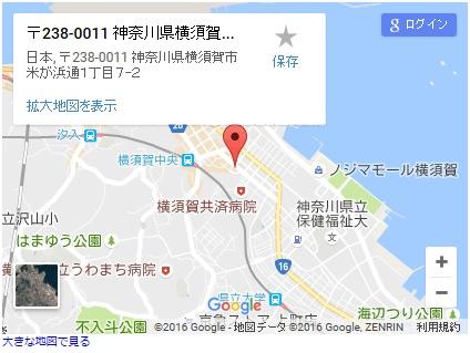 シースリー横須賀中央店の地図
