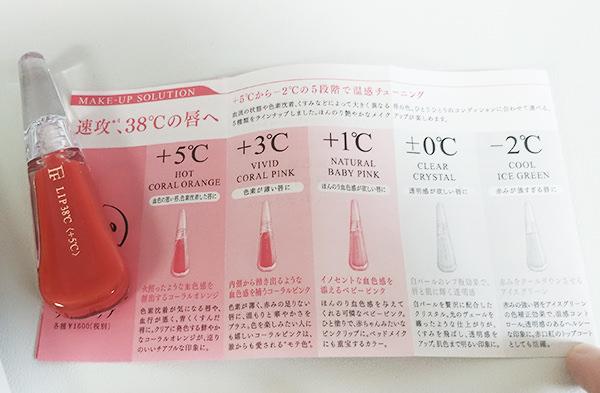 フローフシ LIP38℃ リップトリートメント説明書