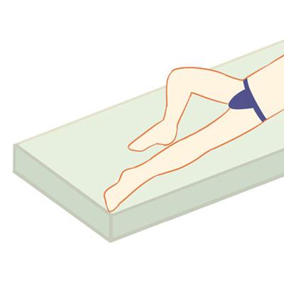 Iライン脱毛の施術方法・ポーズ