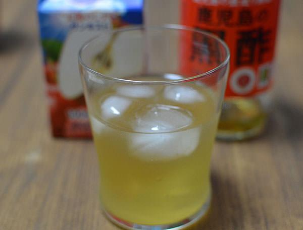 黒酢のリンゴジュース割り