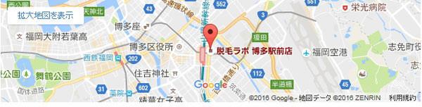 脱毛ラボ 博多駅前店の地図