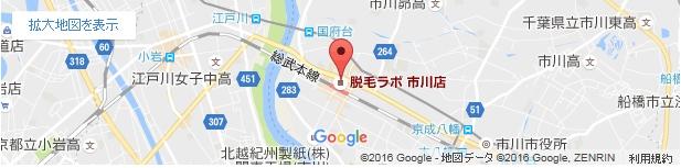 脱毛ラボ 市川店の地図