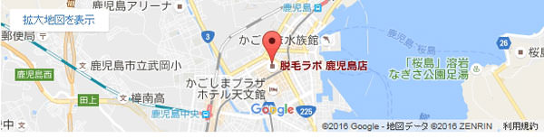 脱毛ラボ 鹿児島店の地図