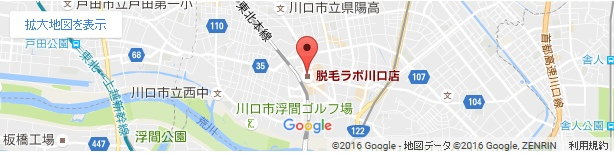 脱毛ラボ 川口店の地図