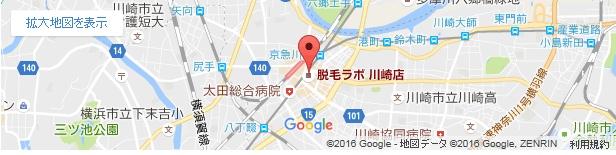脱毛ラボ 川崎店の地図