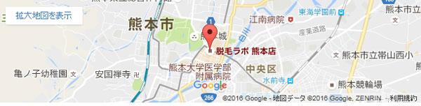 脱毛ラボ 熊本店の地図