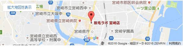 脱毛ラボ 宮崎店の地図