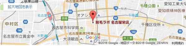 脱毛ラボ 名古屋栄店の地図
