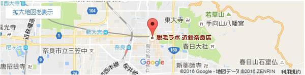 脱毛ラボ 近鉄奈良店の地図