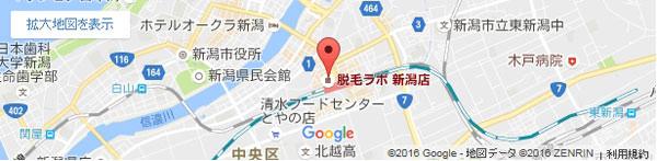 脱毛ラボ 新潟店の地図