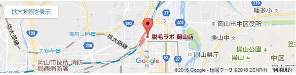 脱毛ラボ 岡山店の地図