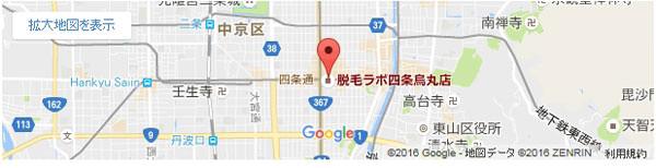 脱毛ラボ 四条烏丸店の地図