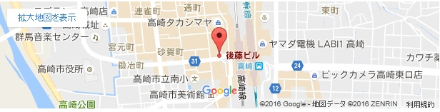 脱毛ラボ 高崎店の地図