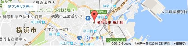 脱毛ラボ 横浜店の地図