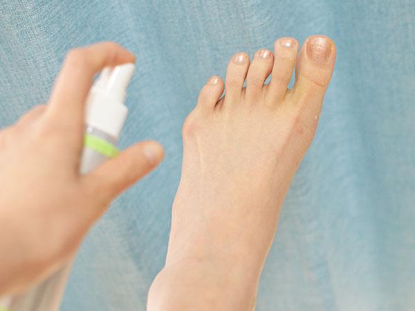 ミョウバン水を足に塗ってみた